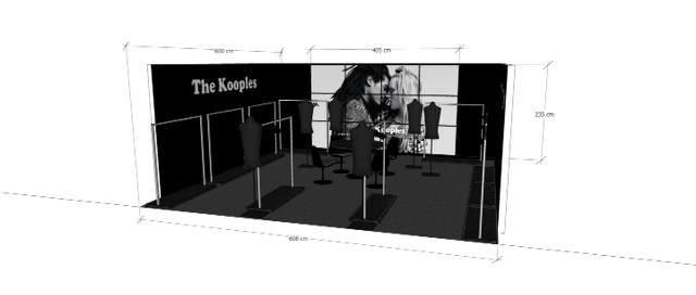 The Kooples Video Wall Design